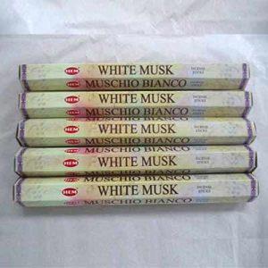 Lot de 100 bâtonnets d'encens Musc blanc